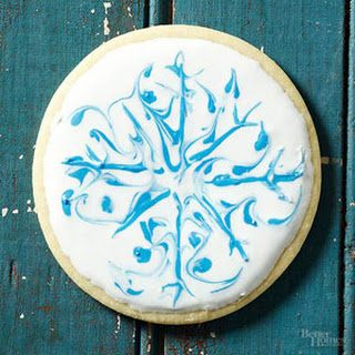 Round Snowflake Cookies