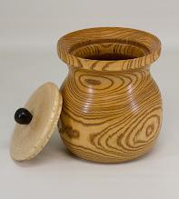 "Photo: Joe Stout 8"" x 6"" Beads of Courage pot [pine]"