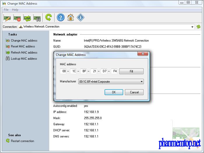 Change MAC Address Free Download