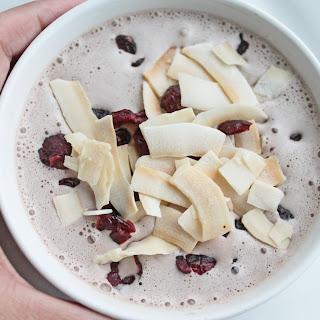 Coconut Milk Smoothie with Frozen Greek Yogurt and Craisins