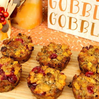 Cranberry, Herb and Sausage Stuffing Muffins Recipe