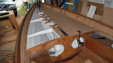 Photo: Test fitting the foredeck