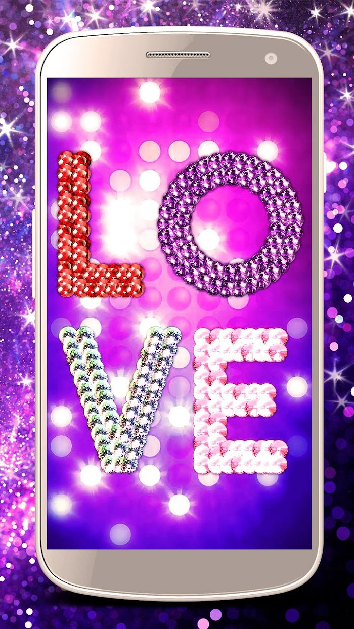 Diamond Live Wallpaper Glitter Rose Hearts V1 0 1 30 For Android