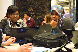Photo: Photo credit: Liana Sonenclar  Students working on their pitch