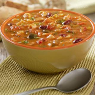 Hearty Potato & Minestrone Soup.