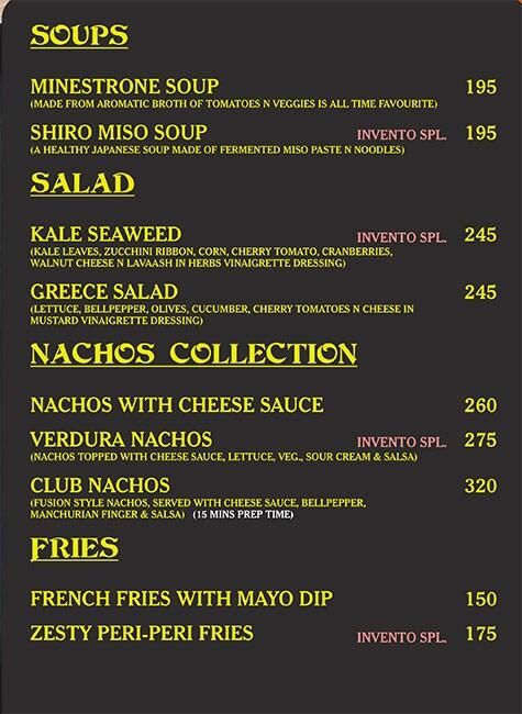 Invento Exquisite menu 3
