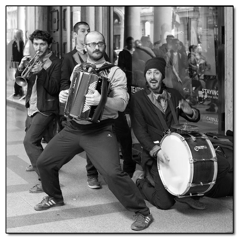 Musicanti di strada di carlobaldino