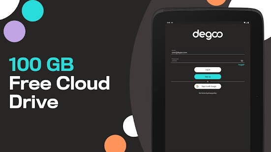 100 GB Free - Degoo Cloud Drive Screenshot