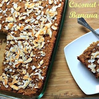 Healthy Coconut Cream Banana Cake.