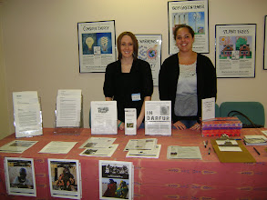 Photo: Kristen and Jennifer ready to help people learn and take action