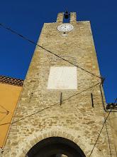 Photo: torre del rellotje del conjunt del castell de Palau-sator