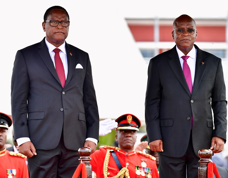Malawi president Lazurus Chakwera when he was hosted by late John Pombe Magufuli for a three-day state visit
