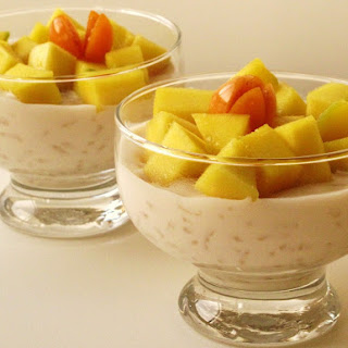 Coconut Rice Pudding with Mango.