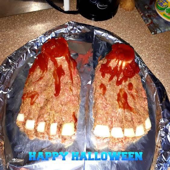 Ghoulishly Gross Feet-loaf Meatloaf Recipe