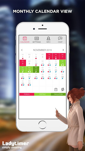 Ladytimer Ovulation & Period Calendar screenshot