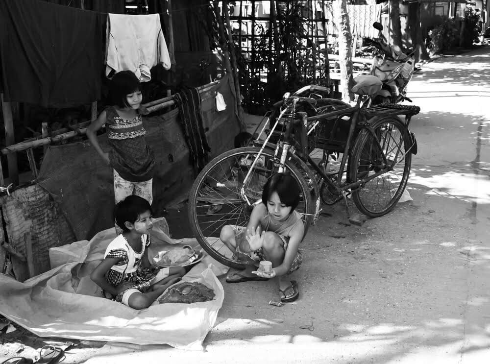 children playing feature image for yangon circular train article