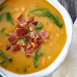 Navy Bean, Bacon and Spinach Soup (Pressure Cooker, Slow Cooker or Stove Top)