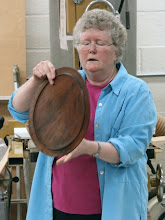 Photo: This warped platter has caught Margaret's eye for being resurrected into new life.