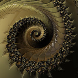 Fractal  by Capucino Julio - Illustration Abstract & Patterns ( abstract, art, brown, digital, design )
