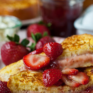 Mascarpone Strawberry Stuffed French Toast