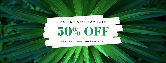 Valentine's Day 50% Off Sale - Valentine's Day Template