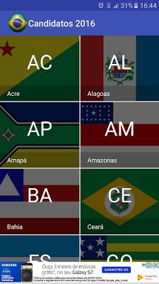 Candidatos 2016 - screenshot