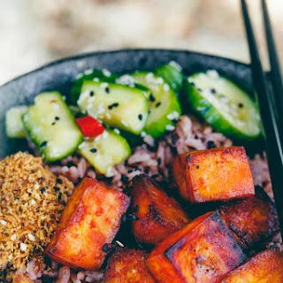 Baked Vegan Gochujang Tofu.
