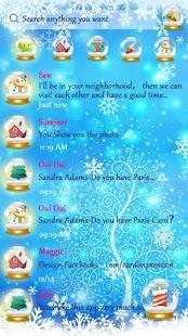 GO SMS SNOW GLOBE THEME - náhled