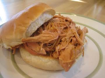 Zesty Crock Pot BBQ Chicken sandwiches