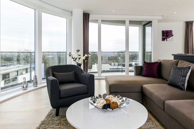 living space at Brentford apartment