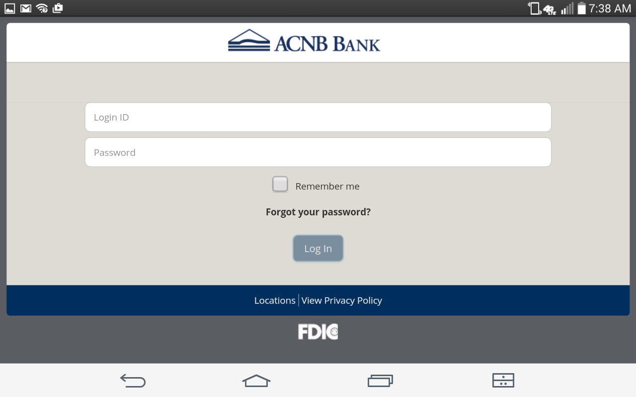 ACNB Bank Mobile App- screenshot