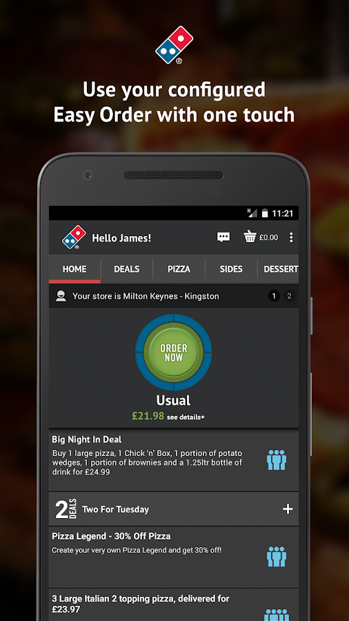 Domino's Pizza- screenshot