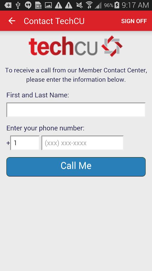 Tech CU Mobile Banking- screenshot
