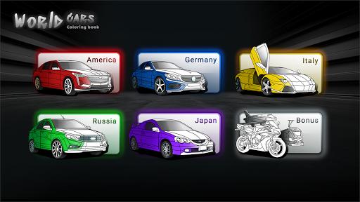World Cars Coloring Book android2mod screenshots 4