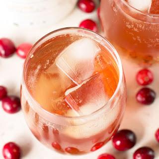 Cranberry Ginger Bourbon Fizz.