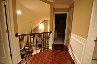 Photo: (After) Urso's upper hallway New cherry floors, new hand rail with metal balusters Marlton, NJ