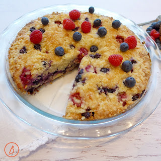 Red, White and Blueberry Buckle.