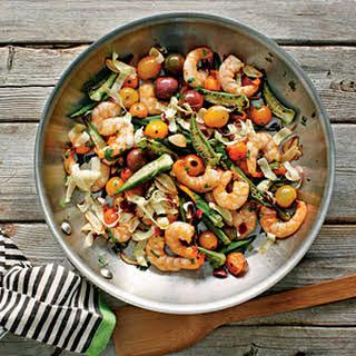 Skillet-Roasted Okra and Shrimp.