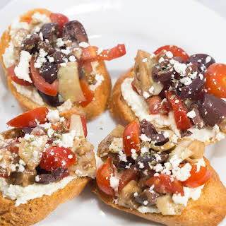 Mediterranean Bruschetta with Whipped Feta.