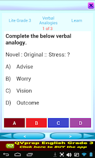 QVprep Lite English Grade 3- screenshot thumbnail
