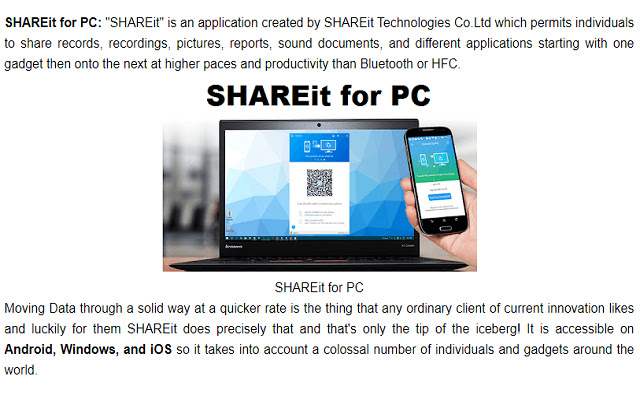 SHAREit for PC - Guide
