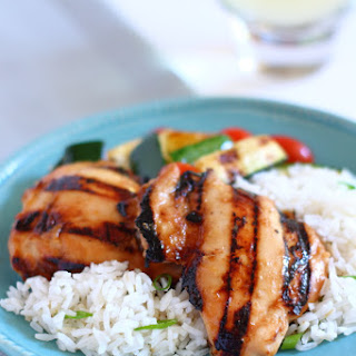 Grilled Chicken with Fig and Dijon Glaze.