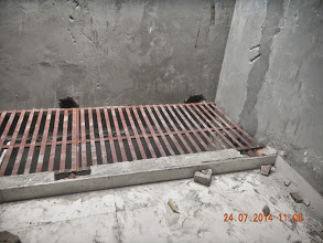 Photo: Ground Floor Jaal being fixed. Builder : Nanak Builders, Mr. Virender Batra
