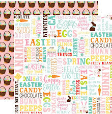 Echo Park Easter Wishes Double-Sided Cardstock 12X12 - Hello Easter UTGÅENDE