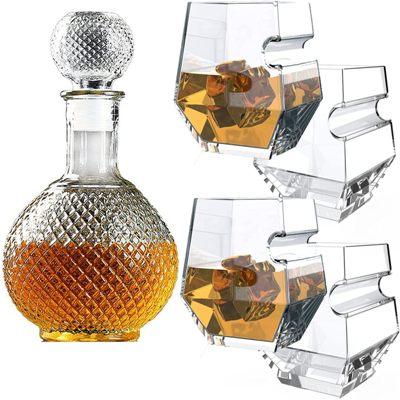 FURSARCAR Glass Decanter & Whisky Glasses Sets