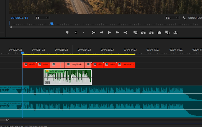 Premiere Pro - Select Voiceover Track in Sequence