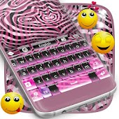 Zebra Storm Keyboard Theme