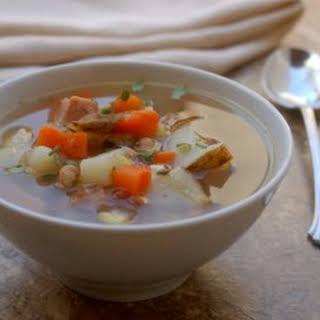 Crock Pot Leftover Ham Bone Soup.