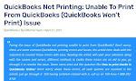 QuickBooks check Printing error | +1-888-202-8743 | USA