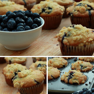 Banana Blueberry Muffins with Streusel Topping